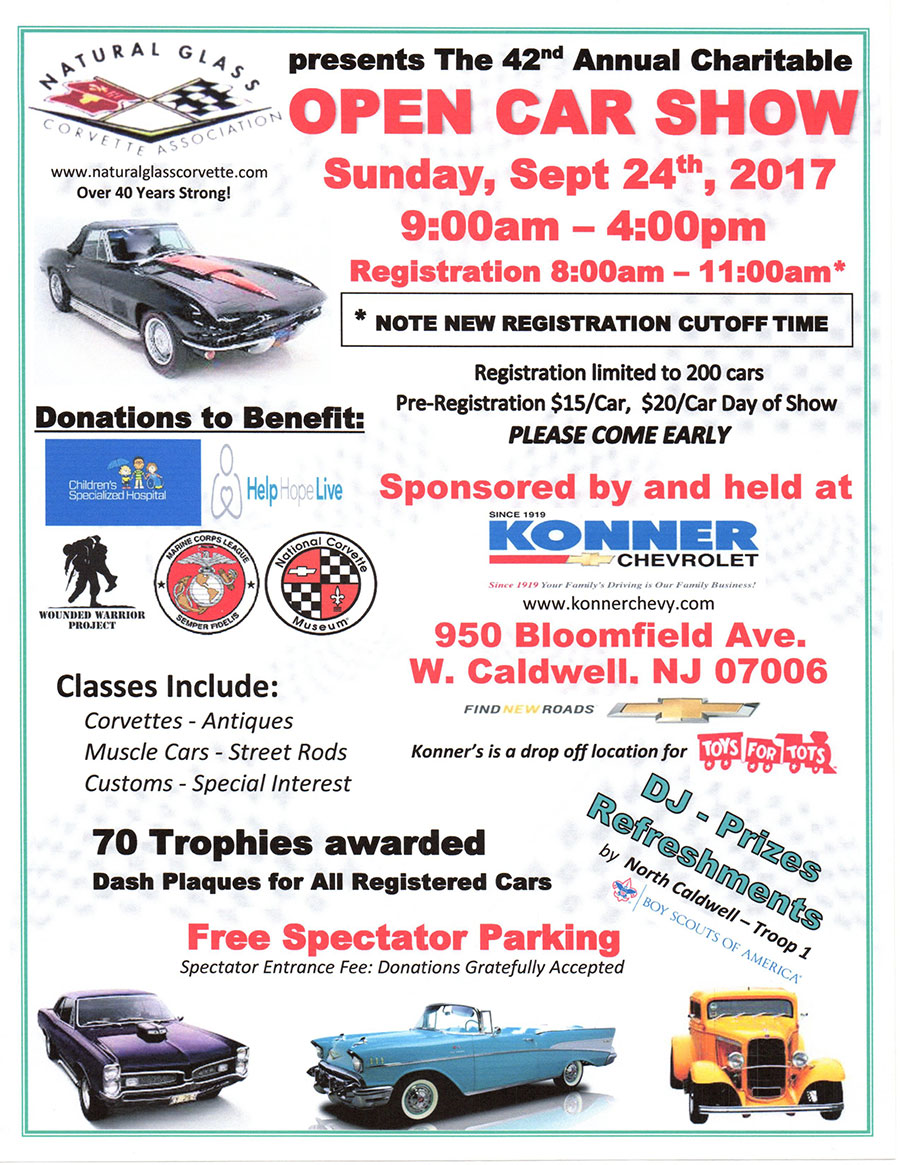42nd Annual Charitable Open Car Show Flyer
