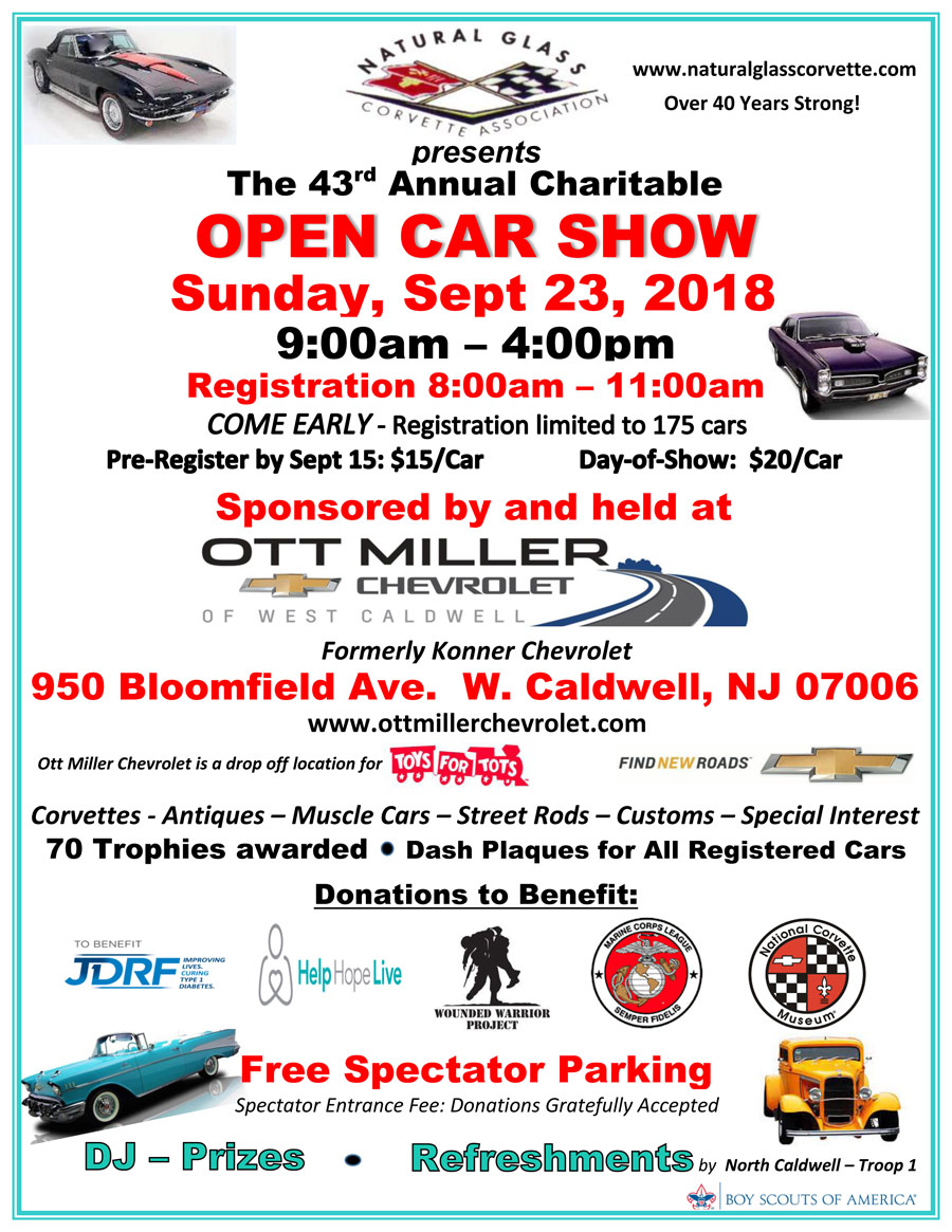 Upcoming Shows Natural Glass Corvette Association - Car show trophy categories