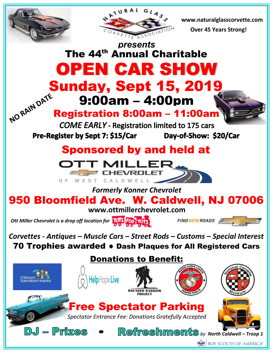 44th Annual Charitable Open Car Show Flyer