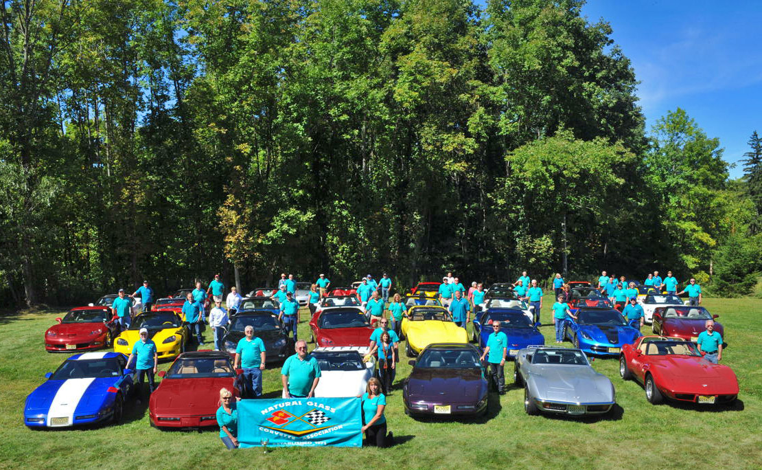 Members of the Natural Glass Corvette Association in 2014