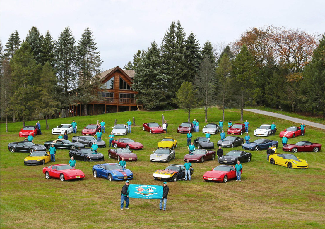 Members of the Natural Glass Corvette Association in 2018